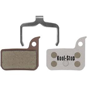 Kool Stop Disc Bremsebelægninger Sram Red/Force/Level/Rival med aluminiumplade sølv